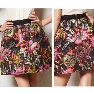 Anthropologie Ladakh Floral Embroidered Skirt 2